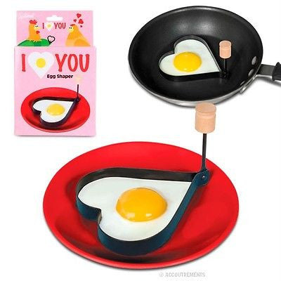 Heart Egg Shaper Kitchen Breakfast Valentine's Day Pancake Mold Cooking Gadget Love Eggs by Accoutrements