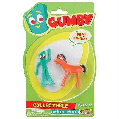 Mini Gumby and Pokey Pair Bendable Figures