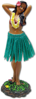 Leilani Hula Girl Dashboard Doll Hawaii Green Grass Skirt by KC Hawaii