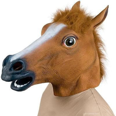 Freaky Horse Costume Party Animal Mask Latex Halloween Accessory by Archie McPhee Novelty Accoutrements