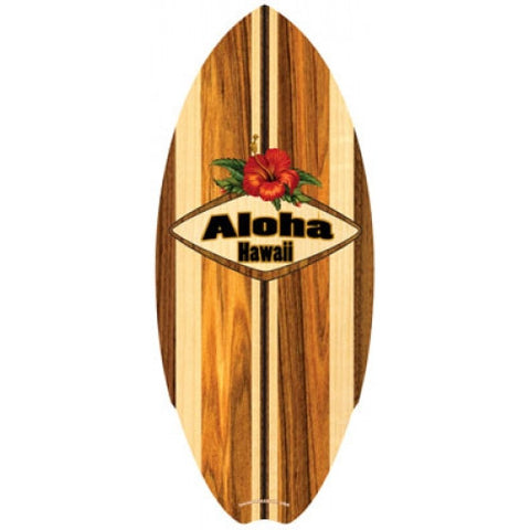 Hawaiian Aloha Classic Mini Wood Surfboard by C-Ya in California and Made in the USA