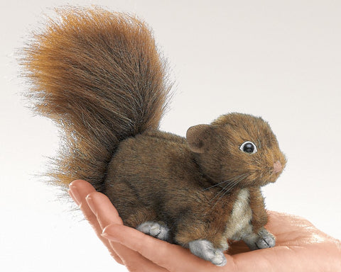 Red Tree Squirrel Finger Puppet Plush Stuffed Animal Toy by Folkmanis Puppets