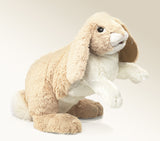 Big Floppy Bunny Rabbit Hand Puppet by Folkmanis Puppets Plush Stuffed Animal