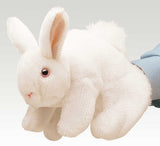 White Easter Bunny Rabbit Hand Puppet Plush Stuffed Animal Toy by Folkmanis Puppets