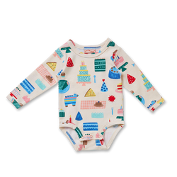 The Big Happy Party Long Sleeve Onesie from Halcyon Nights is the perfect all rounder.