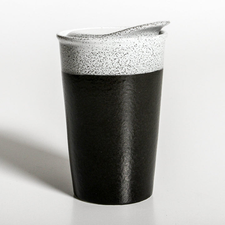 The Black Ceramic Coffee Cup is a beautifully designed ceramic coffee cup.