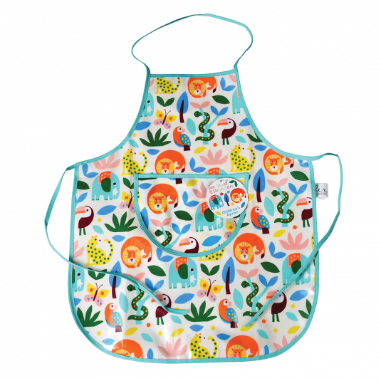 This Wild Wonders animal-print apron will keep kids' clothes clean while they help you cook or bake up a storm in the kitchen!