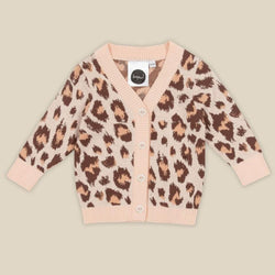 Keep your little one warm and stylish in Wilds Salmon Baby Cardigan by Kapow Kids!