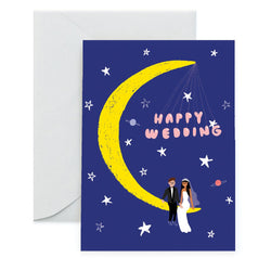 We are huge fans of Carolyn Suzuki and her Moonlight Wedding greeting card is no exception!