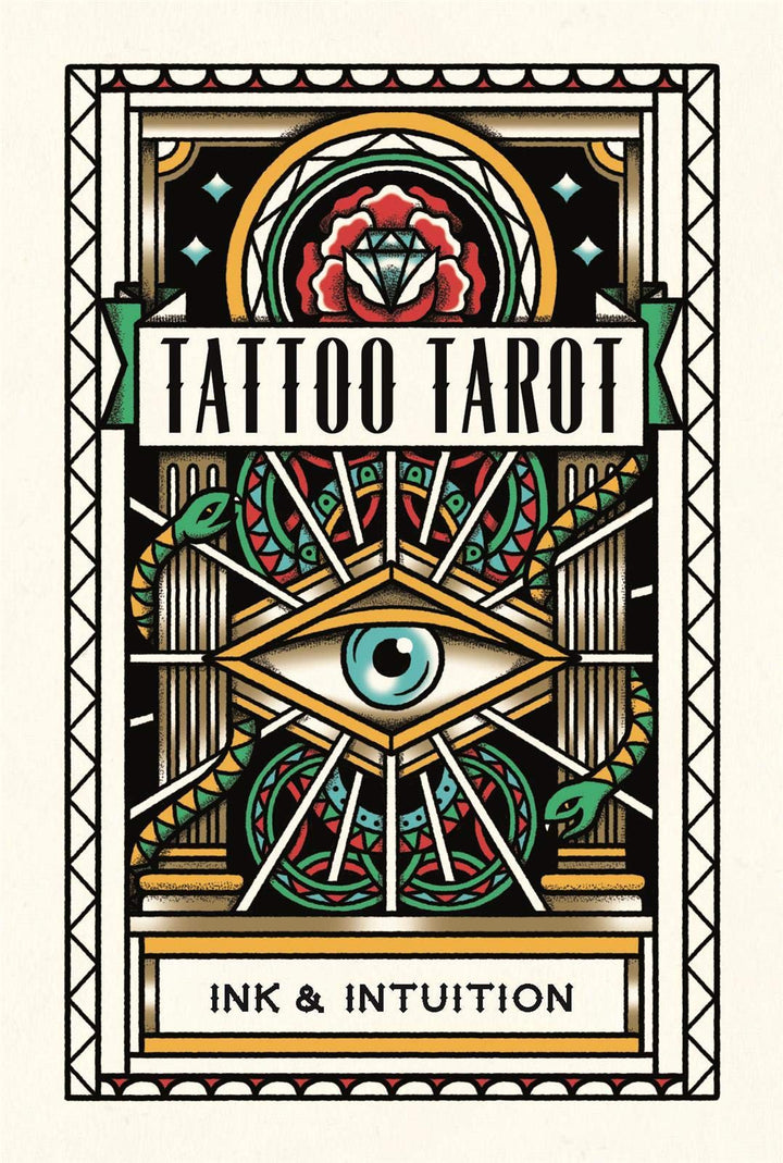 This beautifully illustrated set of fully functional tarot cards is based on traditional tarot iconography as interpreted by MEGAMUNDEN, author of Tattoo Postcards and the best-selling Tattoo Colouring Book.