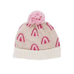 Winter is upon us, time to suit up with the Rainbow Pink Beanie by Acorn!