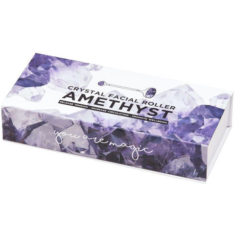 The Amethyst Crystal Roller by Summer Salt Body will rid your skin of free radicals and toxins while providing our skin with a clean, refreshed feel and appearance.