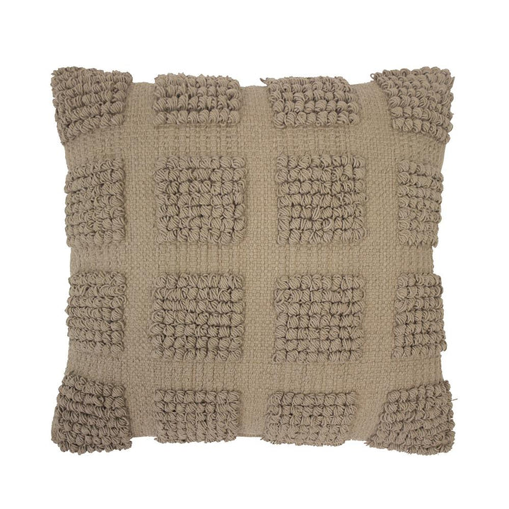The Almond Dawson Cushion is a super textural cushions made from 100% cotton which has been woven into a check design using a combination of high and low piles.