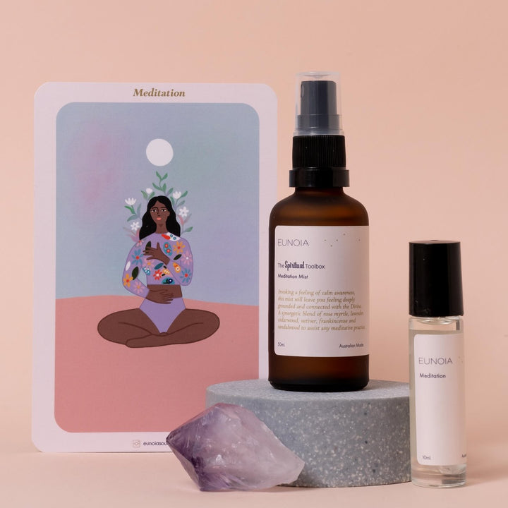 Begin or enhance your sacred meditation practice with the Meditation Journey Pack from Eunoia.