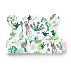 The Fern Gully Baby Hat by Halcyon Nights illustrated by Min Pin in Australia. Super soft cotton / elastane mix for superior comfort!