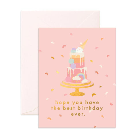 Send a sweet celebratory vibe with the Best Birthday Cake Card from Fox & Fallow!
