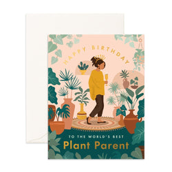 Send a celebratory vibe to your favourite Green thumb with the Birthday Plant Lady Card from Fox & Fallow!