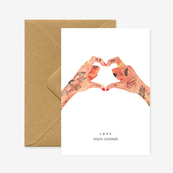 Show that inked up partner of yours some love this Valentine's with the Hands of Love Card from All The Ways To Say!