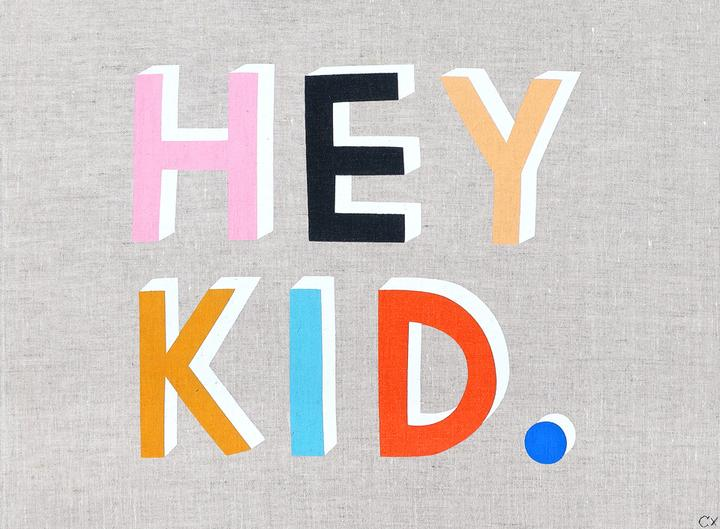 Rachel Castle brings us an adorable greeting to start each day with the Hey Kid Art Tea Towel! These 100% linen tea towels are screen printed in Australia and designed to be framed as artwork.
