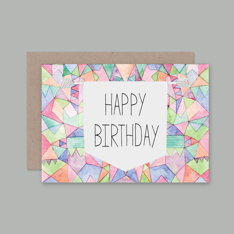 We love this range of illustrated cards by AHD Paper Co.  The Happy Birthday Geometric Card, designed in Australia
