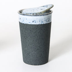 The Pavement Blue Ceramic Coffee Cup is a beautifully designed ceramic coffee cup.