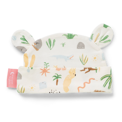 The Outback Dreamers Baby Hat by Halcyon Nights. Hand Illustrated by Min Pin in Australia. Super soft cotton / elastane mix for superior comfort!