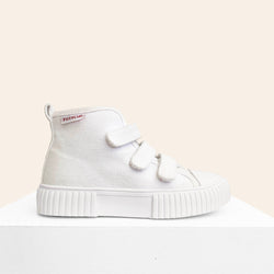 We are obsessed with the White OG High Top Piccolini shoes for our little ones!