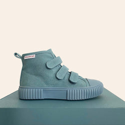 We are obsessed with the Blue OG High Top Piccolini shoes for our little ones!
