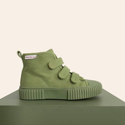 We are obsessed with the Khaki OG High Top Piccolini shoes for our little ones!