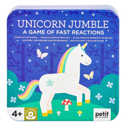 Have a magical time with this Unicorn Jumble game of fast reactions from Petit Collage!