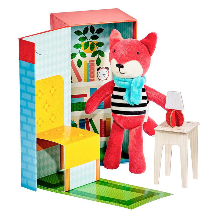 Check out this In The Library Play Set from Petit Collage and meet Frances the Fox! He's a fascinating fox who adores reading a good book in his comfy yellow chair - and he'd like to read a story with you!