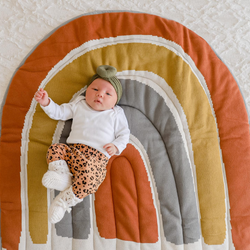 This beautiful Rainbow Play Mat by DiLusso Living brings both colour and style to your bub's nursery!