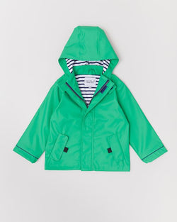 Astro Green Stripy Raincoat