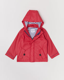 Looking for the perfect raincoat for your little one, then look no further than the Red Stripy Raincoat from New Zealand brand Rainkoat!