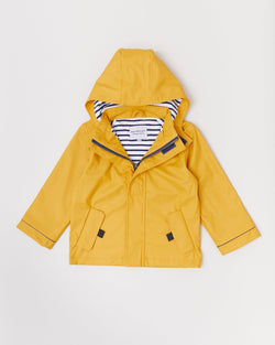 Mustard Stripy Raincoat