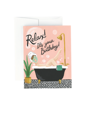 Bubble Bath Birthday Card