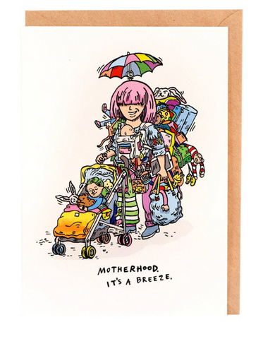 We love the Pack Horse Motherhood Card by Melbourne Illustrator Beck of Wally Paper Co.   This gorgeous Wally card is A6 (when folded), and blank inside.