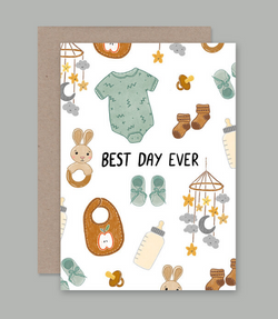 We love this range of illustrated cards by AHD Paper Co. the Best Day Ever Card.