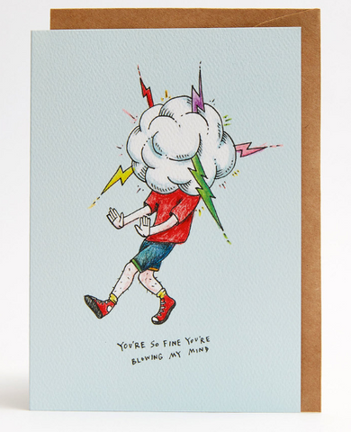 We love the So Fine Cloud Card by Melbourne Illustrator Beck of Wally Paper Co.   This gorgeous Wally card is A6 (when folded), and blank inside.