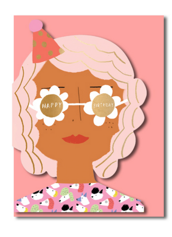 CS Party Girl Die Cut Card