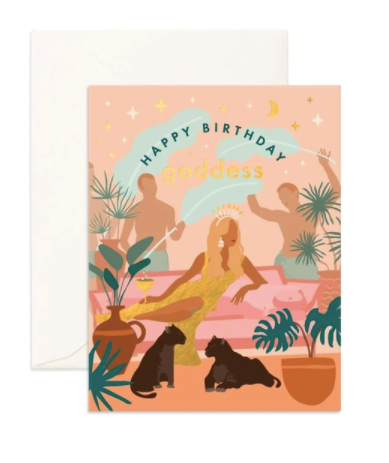 Happy Birthday Goddess Card