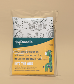 All Supercool kids will love heading Into The Wild with this reusable silicone placemat from HeyDoodle!