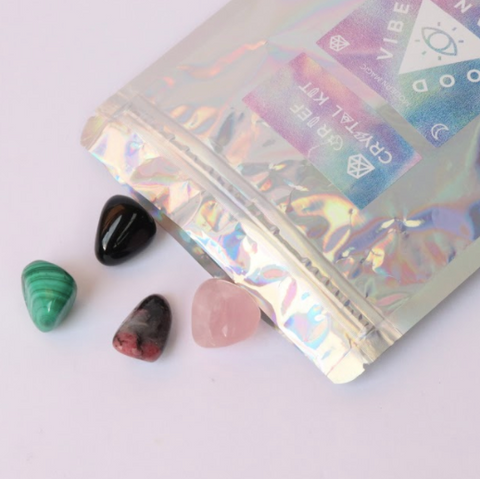Have you had a hard time grieving? This Grief Crystal Kit By Good Vibes Gang will help you connect emotionally to move forward! Support yourself with the grieving process with these gems. They will slowly but surely help you move through the steps of grief. Responsibly sourced crystals blessed with reiki and good vibes and hand packed in Melbourne, Australia.