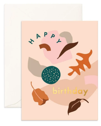Birthday Shape Party Greeting card from Fox & Fallow!