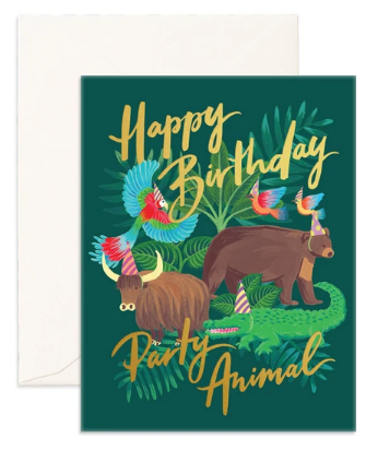 Party Animal Greeting Card from Fox & Fallow!