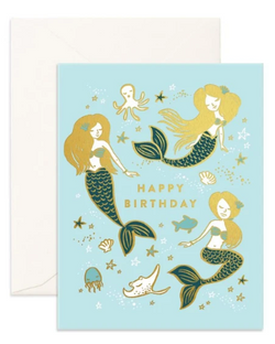 Happy Birthday Mermaids Card from Fox & Fallow!