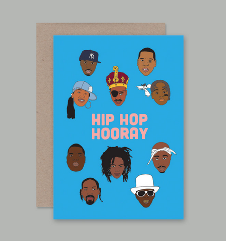 How rad is this Hip Hop Hooray Card designed by artist Sam Merrigan for AHD Paper Co?!