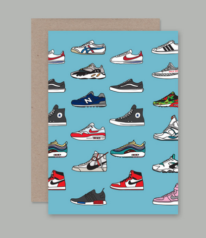 How rad is this Trainers Card designed by artist Sam Merrigan for AHD Paper Co?!