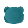 The Bear Blue Dusk Stickie Plate by We Might Be Tiny puts your little muncher in charge at mealtime.