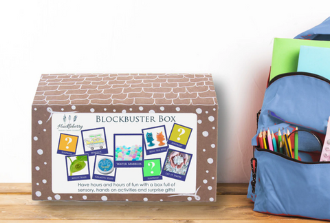 The Boy Blockbuster Box from Huckleberry is the perfect mega activity kit! It is a great school holiday pack or a deluxe gift. Each Blockbuster box comes with a range of sensory activities, crafts and gifts.